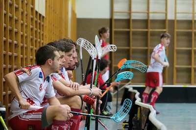 Team des KAC Floorballs in Linz